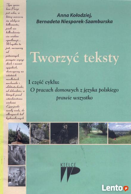 Tworzyć teksty I część cyklu - O pracach domowych z języka..