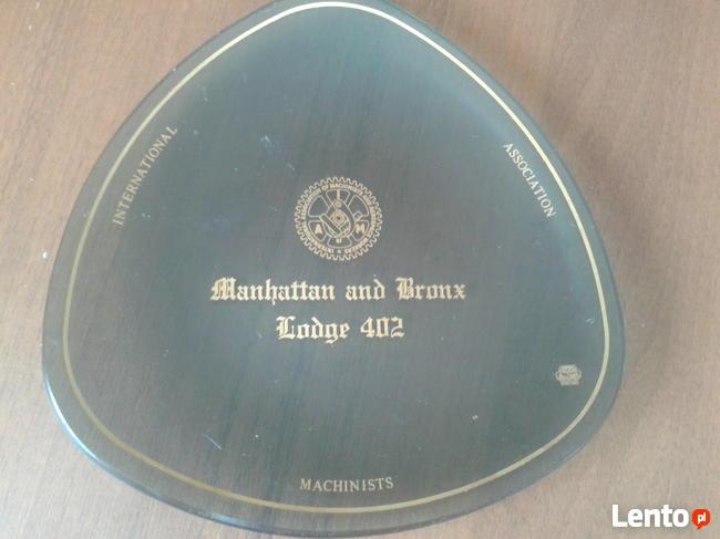 Pamiątkowy talerzyk Międzynardowego stowarzyszenia Machinist
