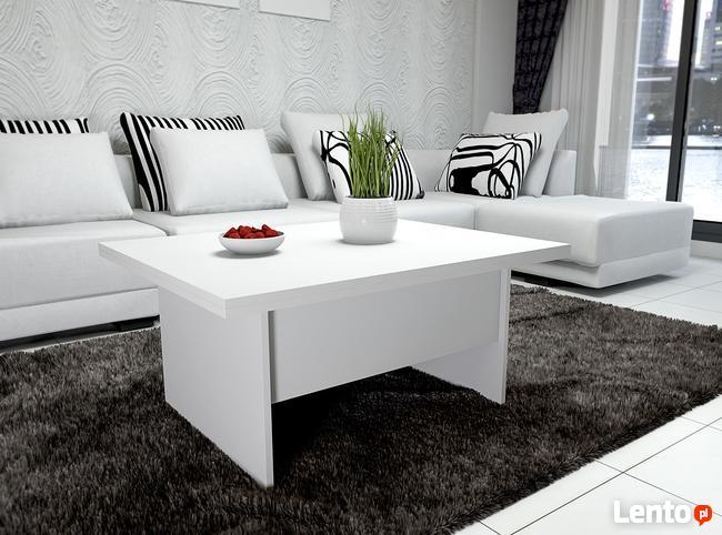 Ława stół ławostół rozkładany podnoszony BIAŁY sonoma wenge