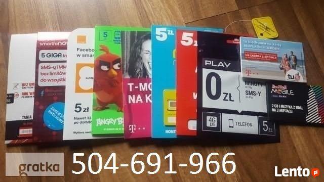 Zarejestrowane karty SIM zarejestrowana karta SIM startery