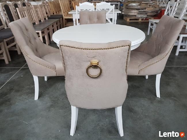 Krzesło pikowane z kołatką i z pinezkami Nowe tapicerowane