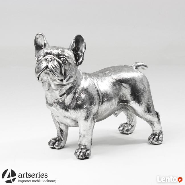 Archiwalne Srebrny Pies Ozdobna Figurka Na Komodę Gdynia