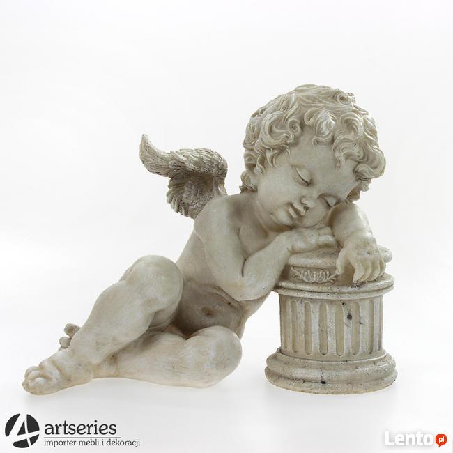 Archiwalne Anioł Leżący Razem Z Kolumną Figura Dekoracja Gdynia