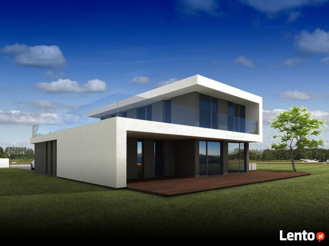 Projekt PS-GL-70-20-2G-V1 dom jednorodzinny NOWOCZESNY EKO