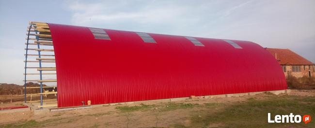 HALA łukowa tunelowa magazynowa hangar BLACHA 11,8 x 25