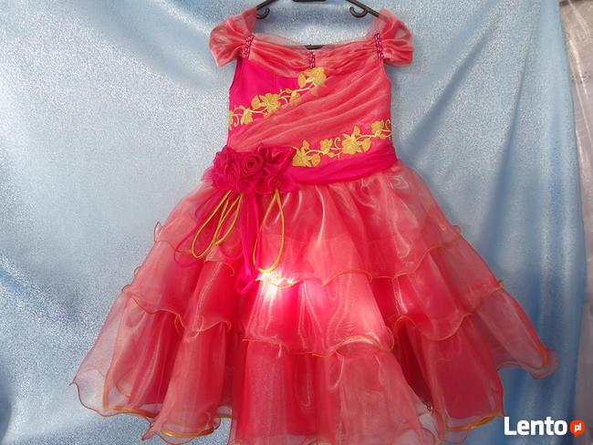 Elegancka sukienka dla dziewczynek. Nowa. Rozmiar 128