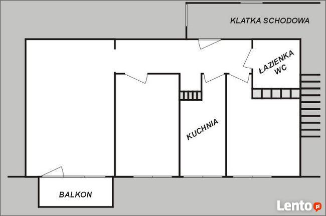 Mieszkanie, 3 pokoje, 50m2 + balkon i piwnica