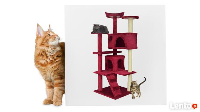 Drapak dla kota typu drzewko bordowy