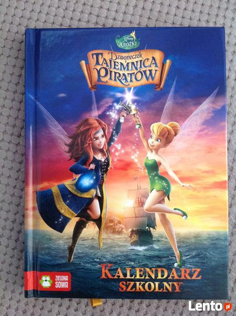 Kalendarz szkolny wróżki tajemnica piratów terminarz Disney