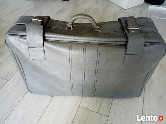 Duża piękna walizka z PRLu jak NOWA