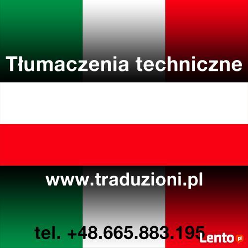 Włoski - tłumaczenia techniczne ustne i pisemne