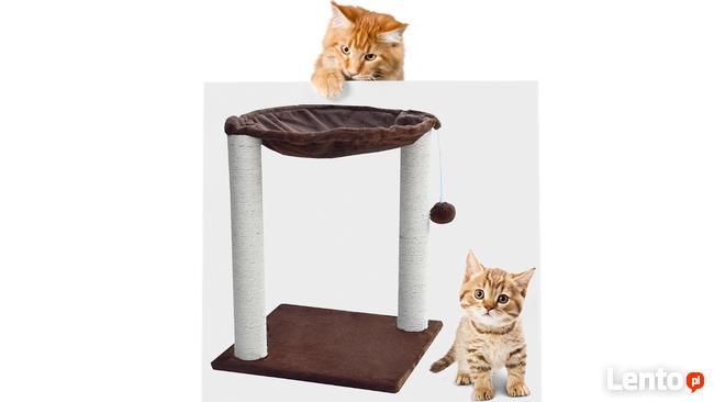 Drapak dla kotów typu hamak z legowiskiem