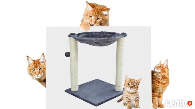 Drapak dla kota z legowiskiem w kształcie hamaku