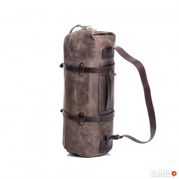Skórzana torba podróżna | Plecak | Brązowa, 100% jakości