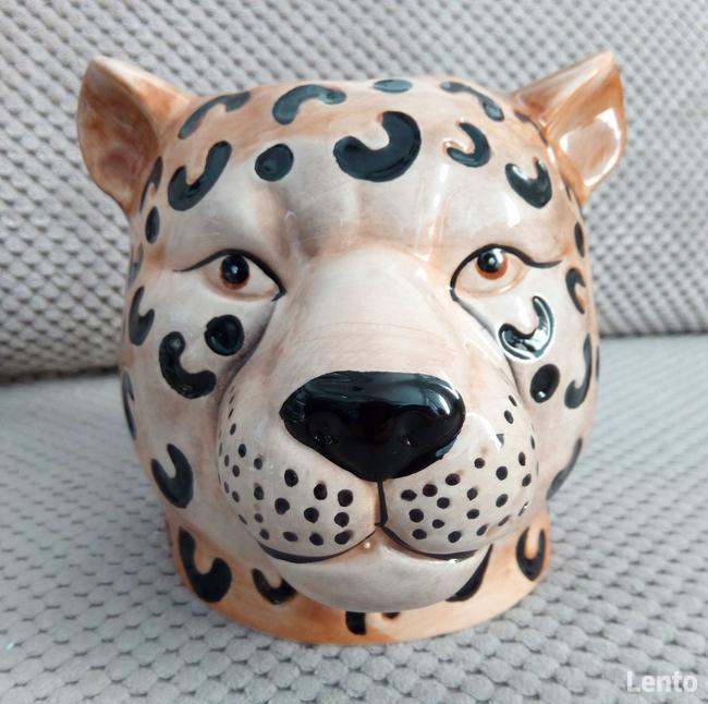Gepard doniczka głowa kota osłonka koci pyszczek