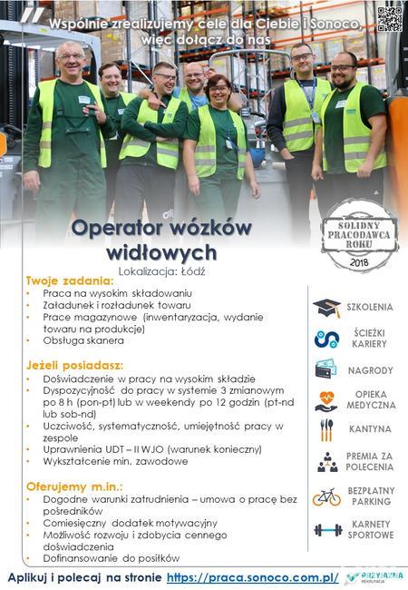 Praca WEEKENDOWA - operator wózków widłowych