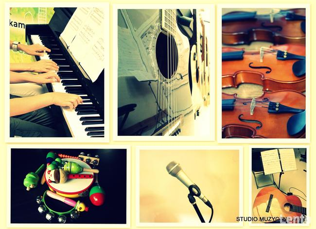 lekcje pianina, lekcje gitary, lekcje skrzypiec