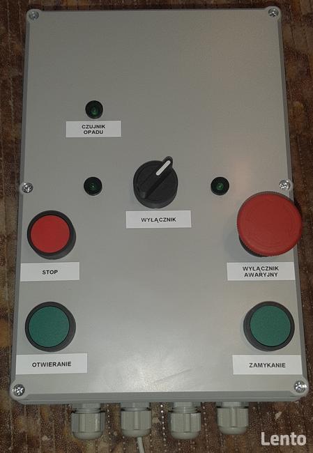 Sterownik do siłowników elektrycznych, piloty, czujnik opadu