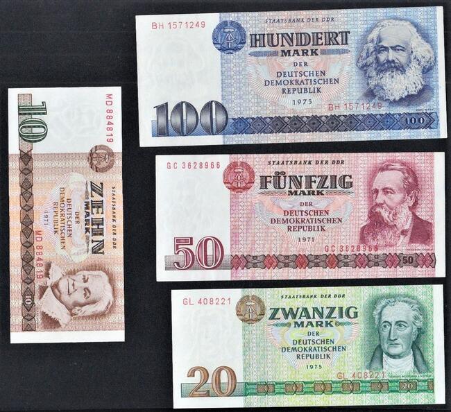 NIEMCY-NRD 1971-1975-4 banknoty UNC! GRATIS WYSYŁKA!