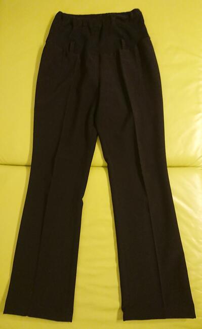 spodnie ciążowe Sawana, czarne, eleganckie, z kantem, XS