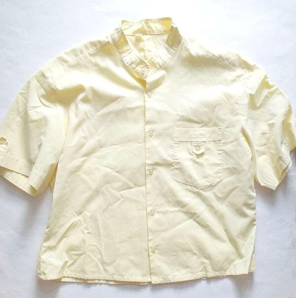 koszulowa bluzka, zółta bluzka krótki rękaw
