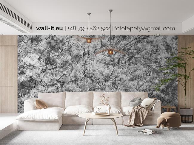 Nowoczesna fototapeta z kwiatami w stylu loft. Na ścianę.