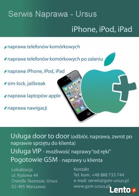 Serwis Apple Macbook iPhone iPod iPad Warszawa - Dojazd
