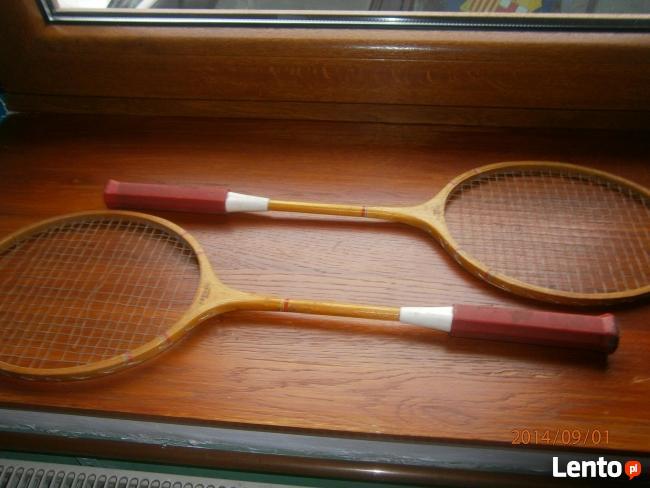 Rakiety drewniane do badmintona firmy GERMINA DUETT DDR