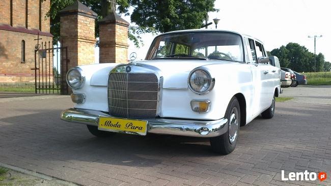 Zabytkowy mercedes skrzydlak do ślubu z 1963r.