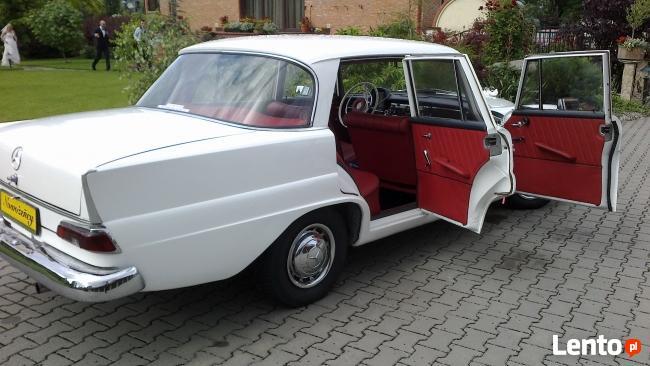 Białą Perłą do ślubu-zabytkowy mercedes z 1963 roku