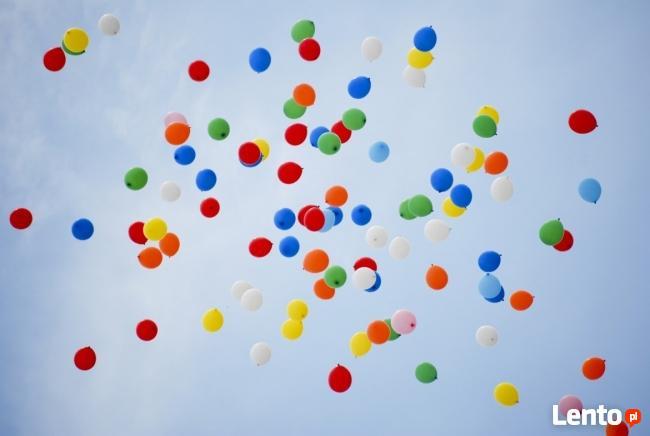 Pompowanie balonów helem w Krakowie