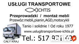 Usługi transportowe-przeprowadzki Warszawa SOLIDNIE OD 1977