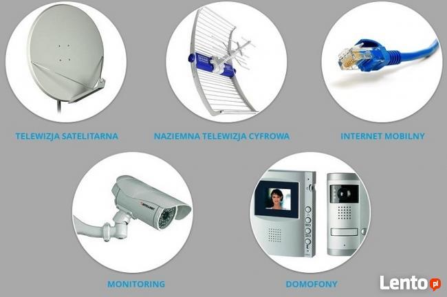 montaż instalacja ANTEN SAT DVB-T telewizja anteny SERWIS