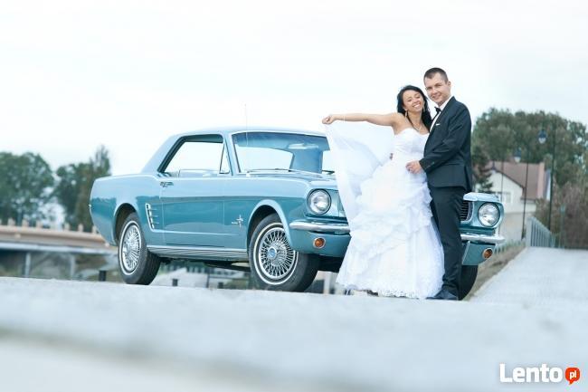 auto do ślubu Mustang 66