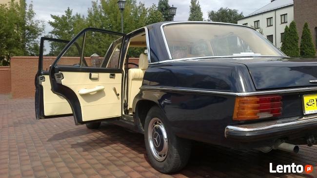 Auto do ślubu biały jaguar-zabytkowe mercedesy