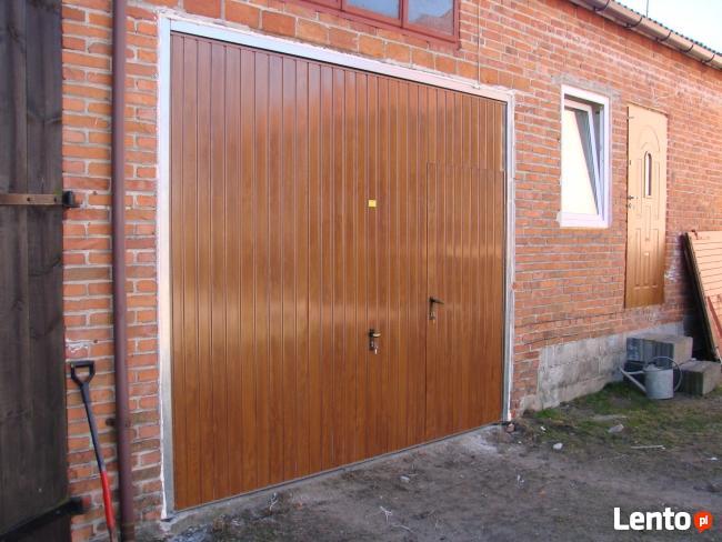 Brama garazowa na wymiar -ORZECH/WINCHESTER/ZŁOTY DĄB