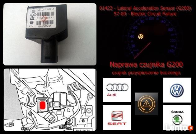 CZUJNIK ESP G200 1J0907651A przyspieszenia bocznego NAPRAWA