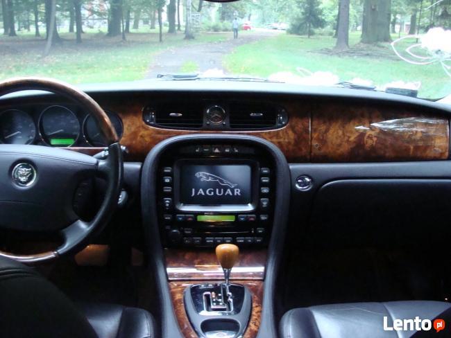 Auto do wynajęcia z kierowcą do ślubu imprezy Jaguar XJ