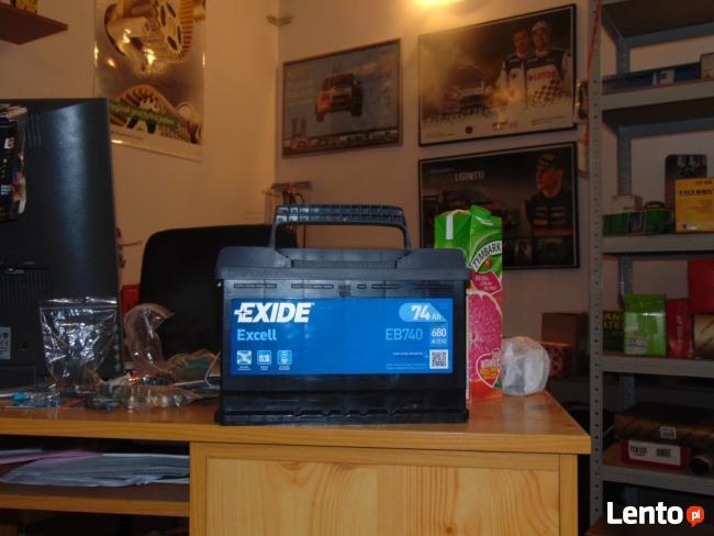 Akumulator Exide Excell EB740 74Ah 680A Wymiana za darmo