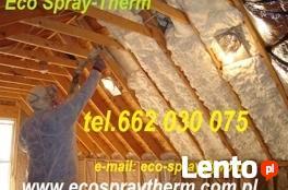 Ocieplenie poddasza dachu pianka PUR