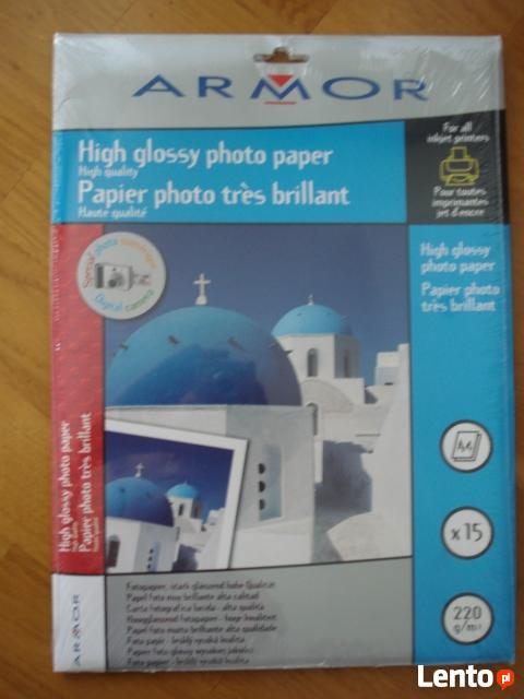 NOWY papier fotograficzny firmy Armor A4 15 kartek