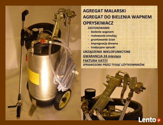 AGREGAT MALARSKI PISTOLET LAKIERNICZY BIELARKA DO WAPNA FV23