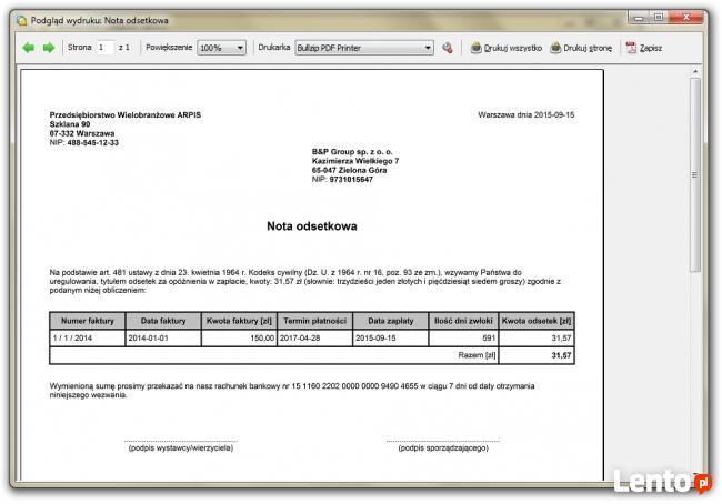 Rachunek-program do wystawiania rachunków oraz faktur bez VA