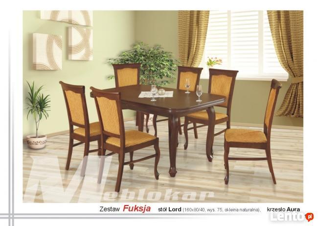 Zestaw FUKSJA   stół + 6 krzeseł  