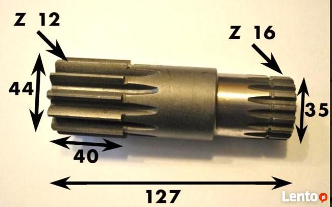 Wał reduktora obrotu do maszyn CAT 301.5 - 302,5 - NOWY
