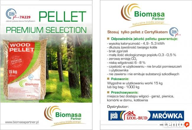 Pellet Biomasa 15kg - 6mm - iglasty