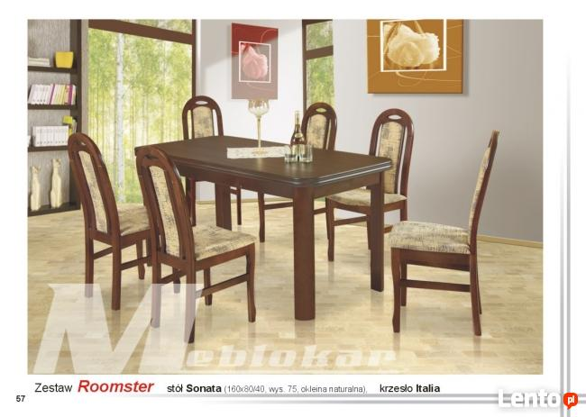 Zestaw ROOMSTER! stół + 6 krzeseł!