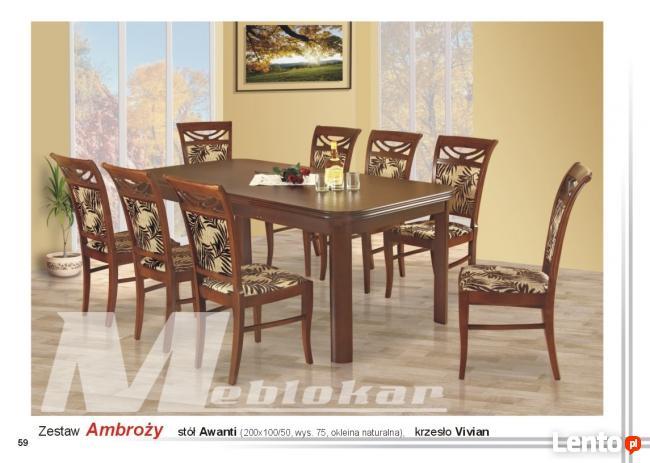 Zestaw AMBROŻY!! stół + 8 krzeseł!!