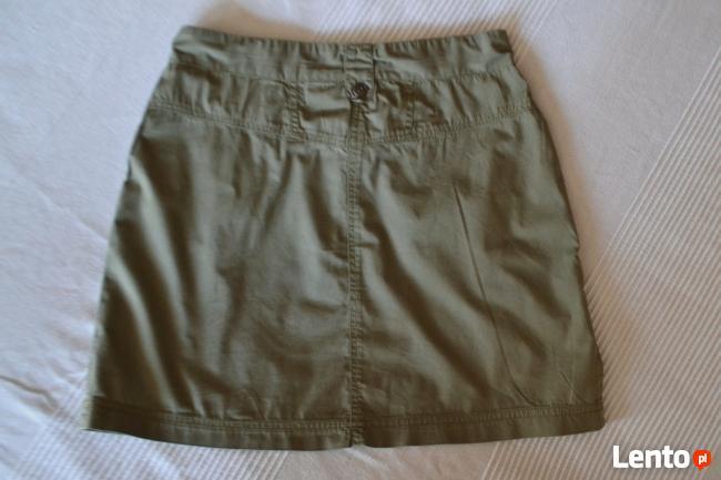 Bawełniana spódniczka khaki 36