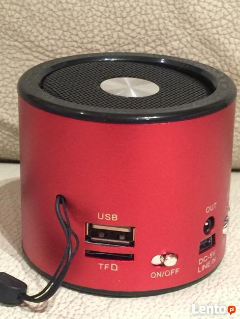 Przenośny Głośnik Radio FM i MP3 + Bluetooth